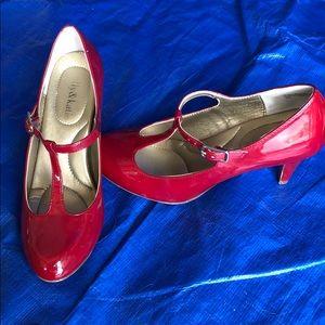 Red patent Kelly & Katie heels